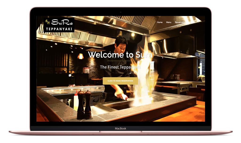 Sura Teppanyaki Desktop Site