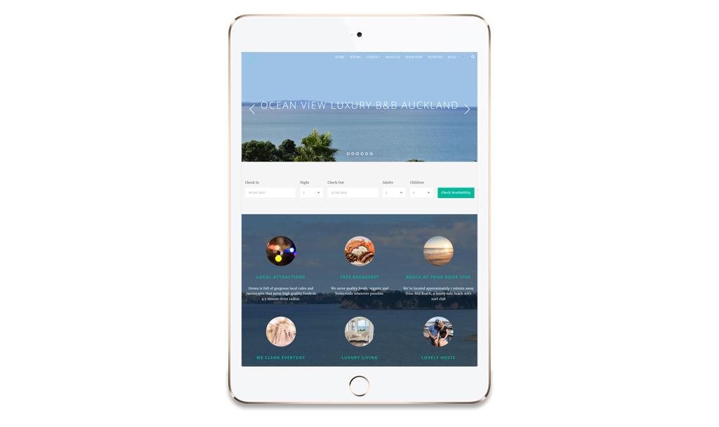 iPad Ocean View Luxury Bed and Breakfast
